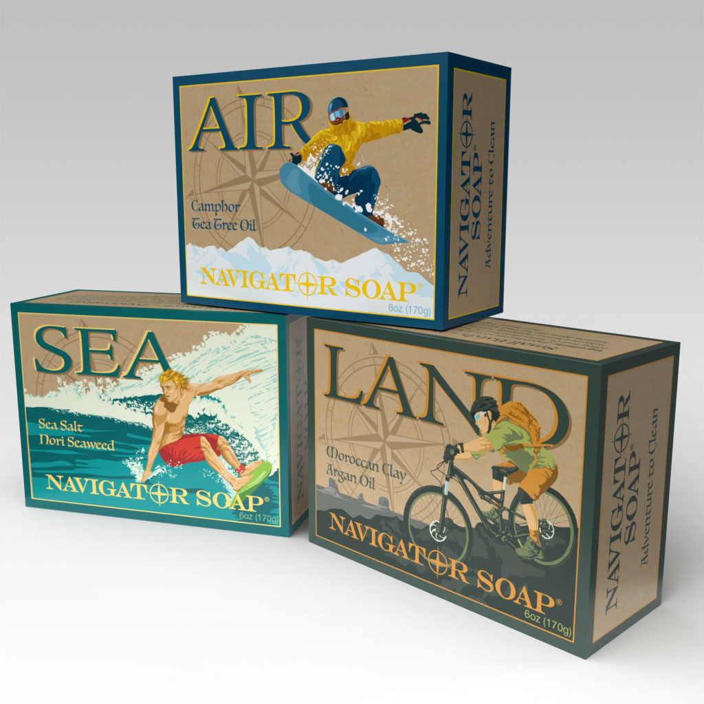 Allied Soap and Razor Active Soap Boxes