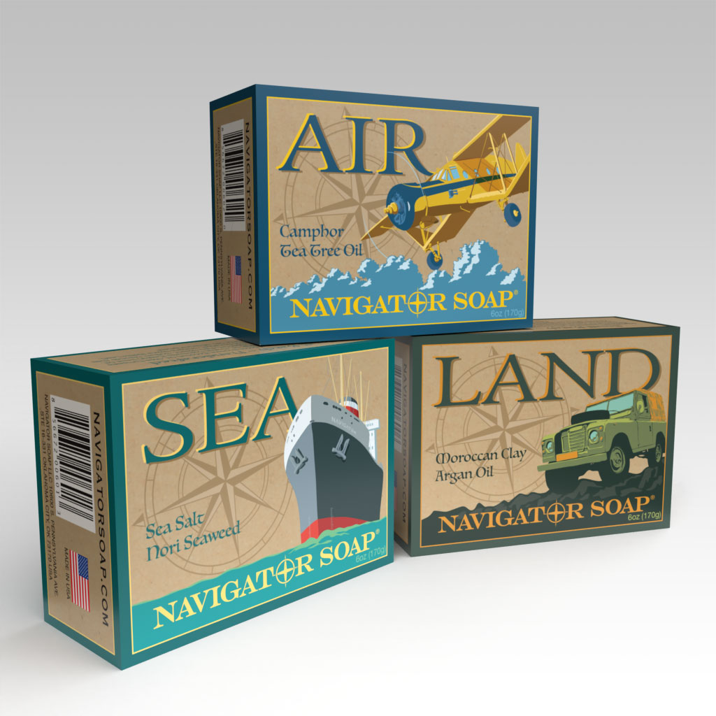 Allied Soap and Razor Transport Soap Boxes