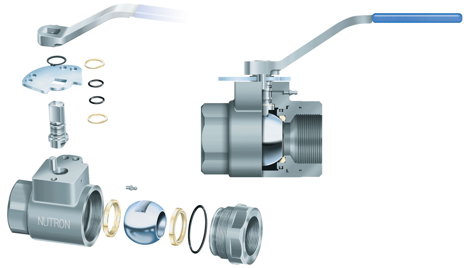Nutron industrial ball valve